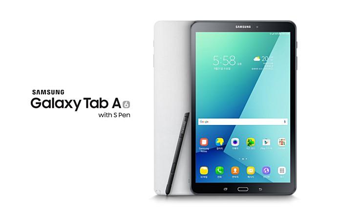 Samsung Galaxy Tab A (2016) avec S Pen avec coque de protection