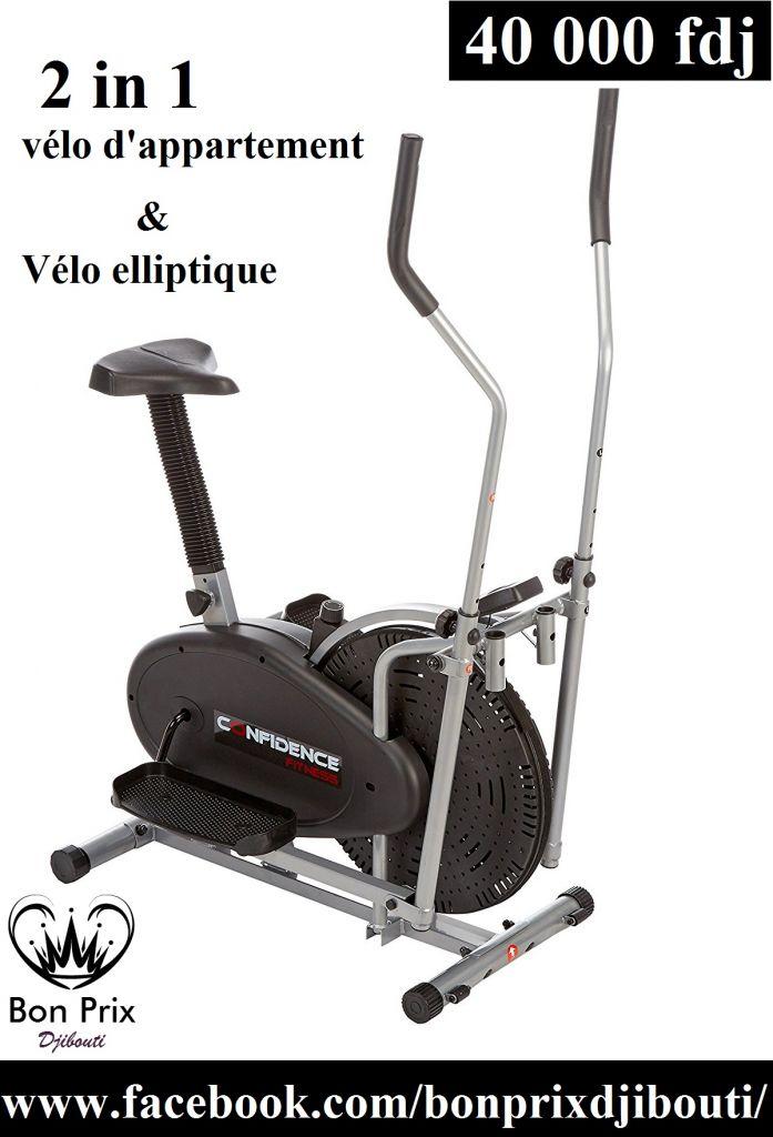 2 in 1 Vélo elliptique et vélo d'appartement