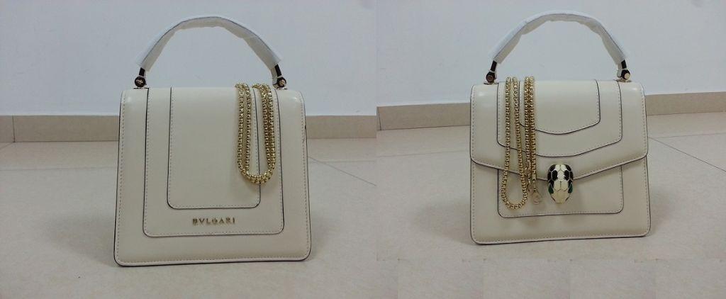 Sac à main de luxe en cuir pour Femme, de marque BVLGARI !!