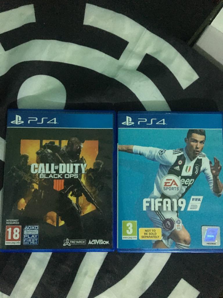 Fifa 19 et Black ops 4 sur PS4